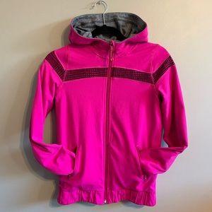 Ivivva grey and pink reversible zip up hoodie
